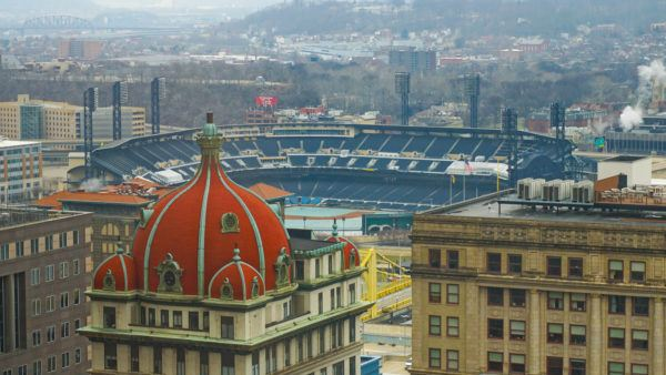 View from Embassy Suites of PNC Park