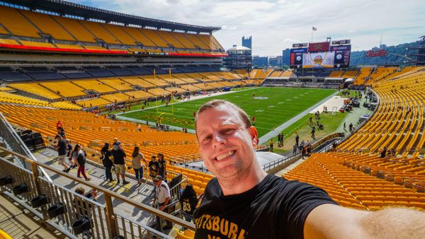 Section 226 Row B at Heinz Field During a Steeler Game
