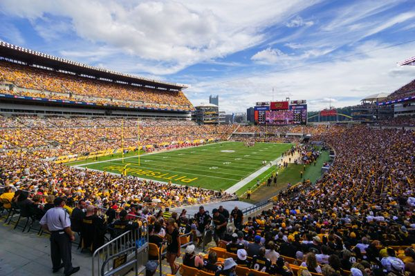 Shade at Heinz Field at about 4pm in September