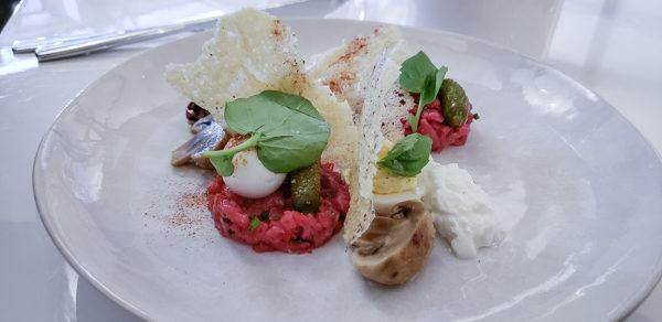 Beef Tartare Appetizer at Cocothe