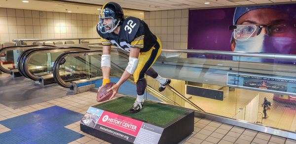 Immaculate Reception Statue