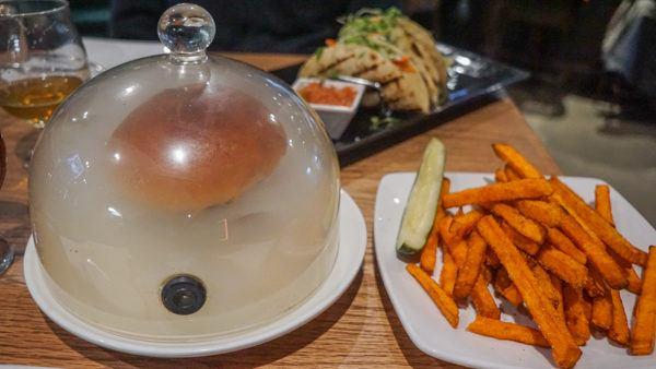 Coughlin's Burger and sweet potato fries