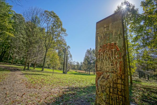 Piece of the Berlin Wall in the Laurel Highlands