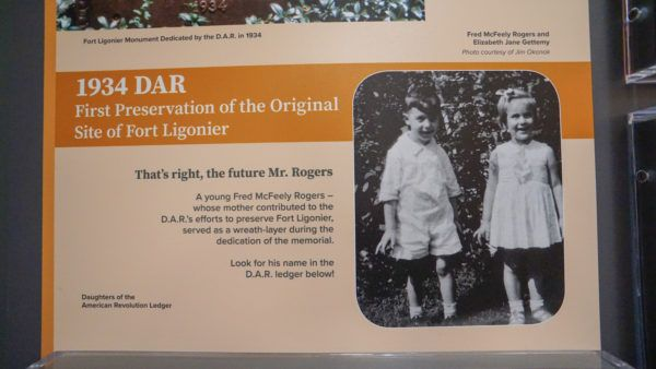 Mr. Rogers at Fort Ligonier