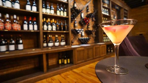 A Cocktail in the Wine Library at The Pennsylvania Market