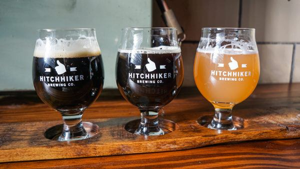Beer Flight at Hitchhiker Brewery