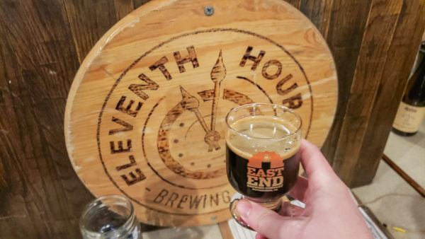 Tasting a Robust Dark Beer from Eleventh Hour