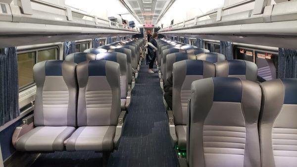 Inside Amtrak Business Class
