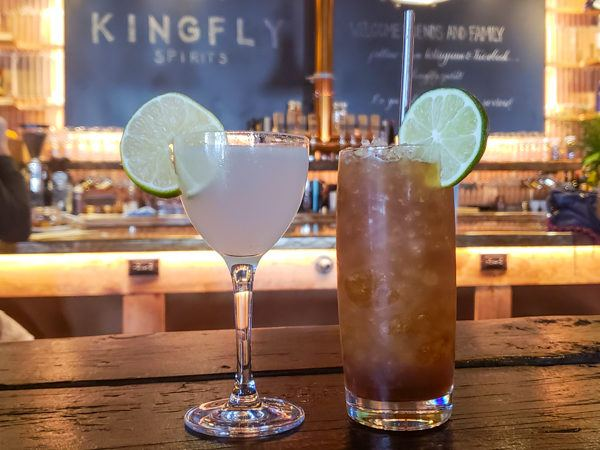 Cocktails at Kingfly Spirits
