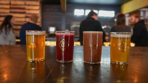 Beer Flight at Four Points Brewing