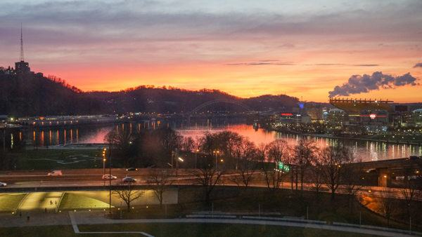 Sunset from the Wyndham Grand Pittsburgh