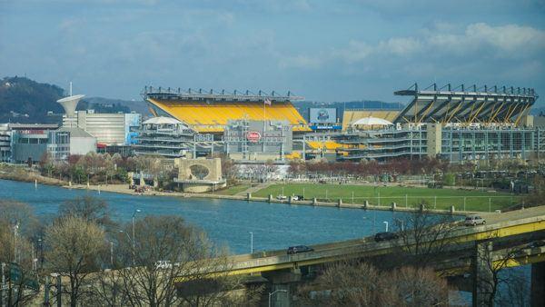Steelers Stadium from Wyndham Pittsburgh