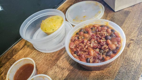 Cowboy Beans at Burk's Barbecue