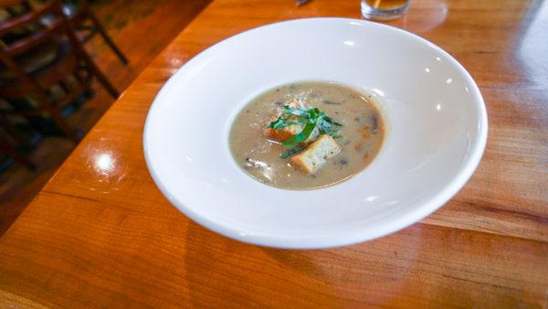 Mushroom Soup at Out of the Fire Cafe in Donegal