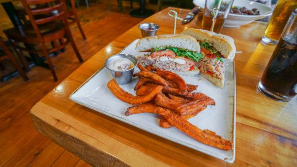 Smoked Salmon Sandwich at Out of the Fire Cafe