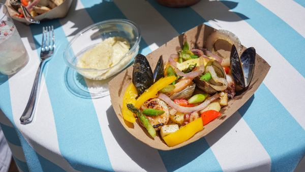 Seafood mixed grill at Vallozzi's Lemoncello Festival