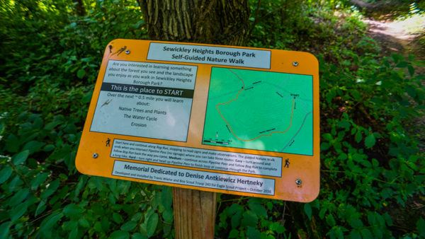 Nature Trail Map at Sewickley Heights Park
