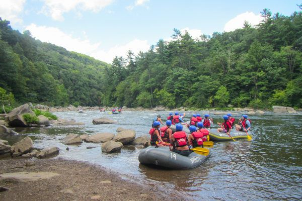 Departing for the White Water Rapids in Ohiopyle