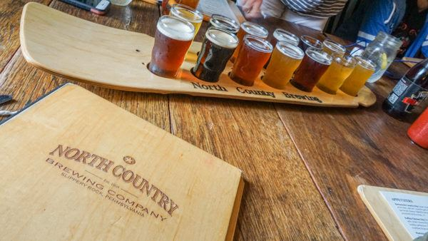 Beer Flight at North Country Brewing