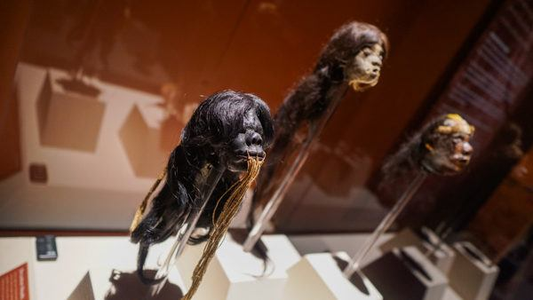 Shrunken Heads at the Mummies of the World Exhibition