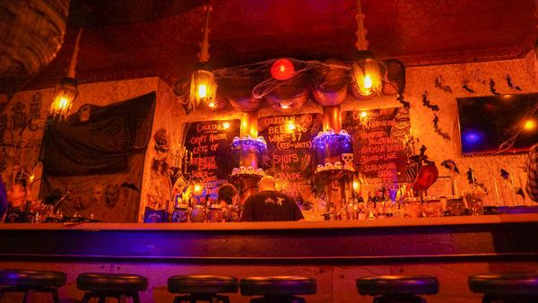 Bar at Cocktails of the Crypt