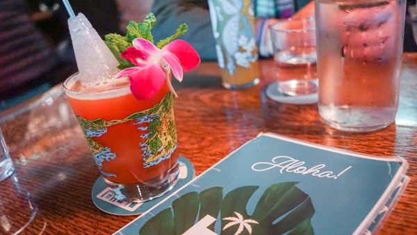Tiki drinks at Hidden Harbor