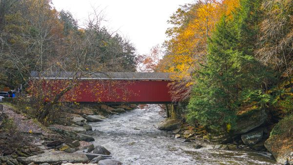 The covered bridge at McConnells Mill