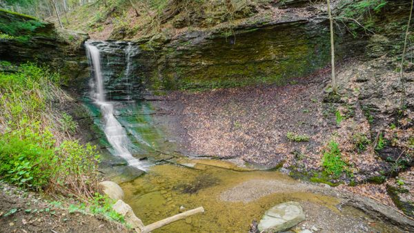 The waterfall at Fall Run Park is stunning