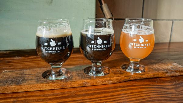 Beer flight at Hitchhiker Pittsburgh