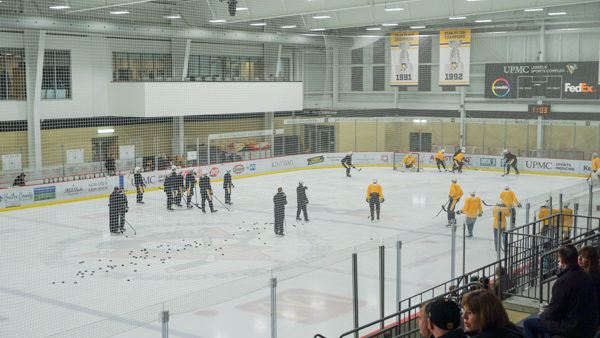Penguins Practice at the Lemieux Complex