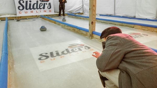 Ice Curling at Sliders Curling in Millvale