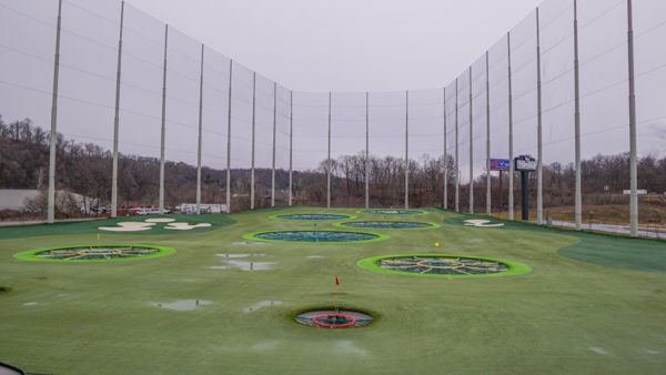 Topgolf Pittsburgh from the 2nd bay level.