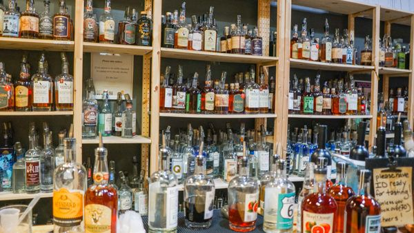 Fully stocked bar for samples at Pennsylvania Libations