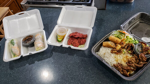 Takeaway from Maiku Sushi