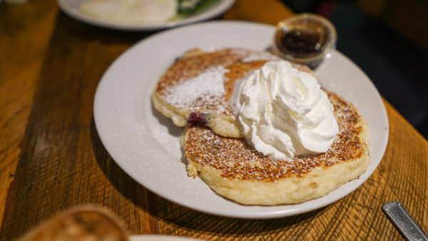 Blueberry Ricotta Pancakes at Cafe Raymond