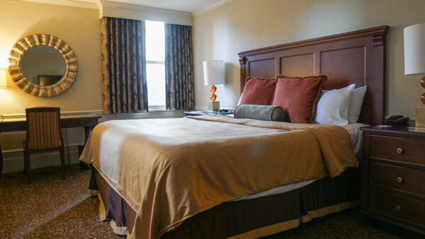 Room at the Omni William Penn Hotel
