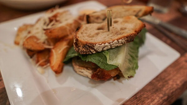 Pork Belly BLT and Duck Fat Fries