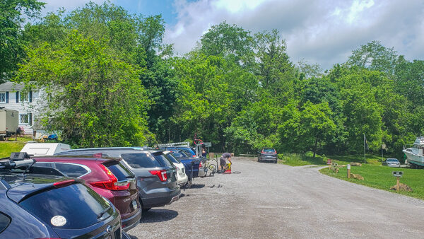Parking Area in Freeport for Butler-Freeport Trail
