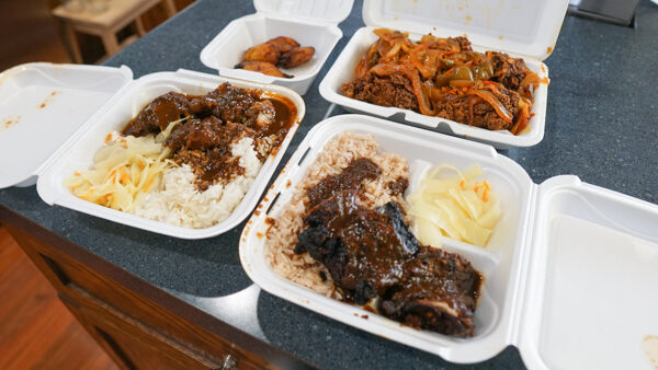 Spread of Food from Leon's Caribbean