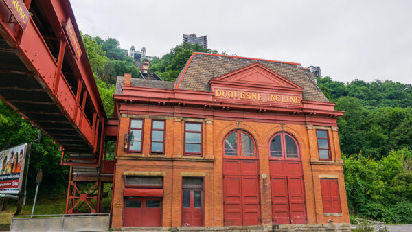 The lower station of the Duquesne Incline
