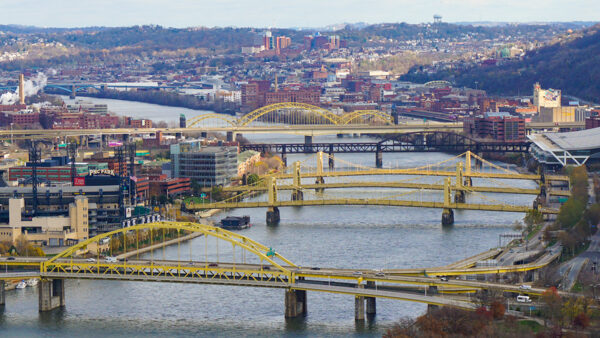Pittsburgh's Bridges from Mount Washington