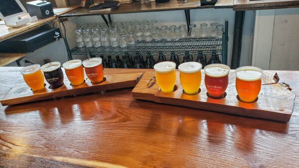 Flight at Lincoln Avneue Brewery