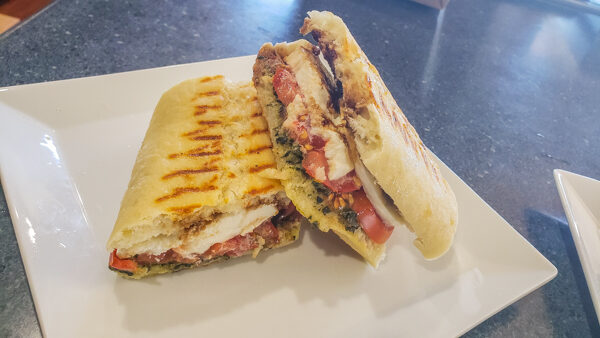 Panini Caprese Sandwich from Mezza Luna Cafe