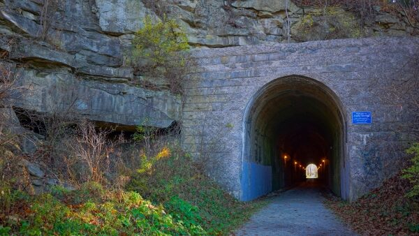 The Enlow Tunnel on the Montour Trail