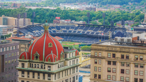 View of PNC Park from the Oliver Building