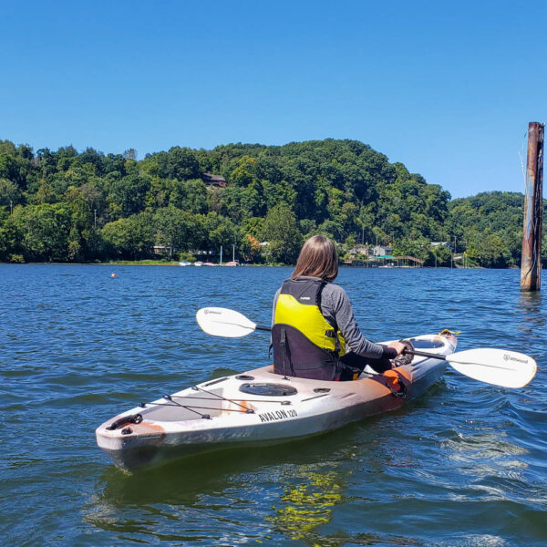 Kayaking on the Allegheny River from Verona