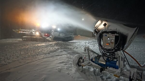 Snow Machine at Night