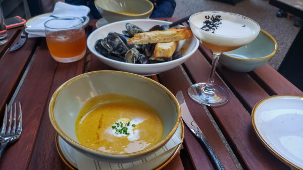 Soup and Mussels from Fig & Ash
