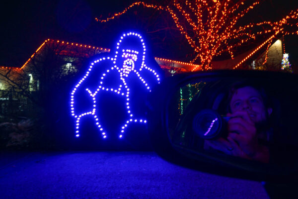 Gorilla at the Pittsburgh Zoo Light Drive Through
