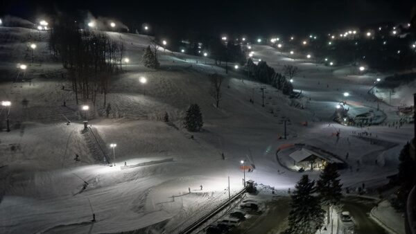 Seven Springs Ski Slopes at Night